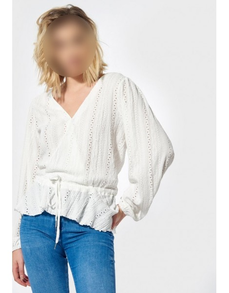 KAPORAL BLOUSE LOOSE FEMME PERIN off white